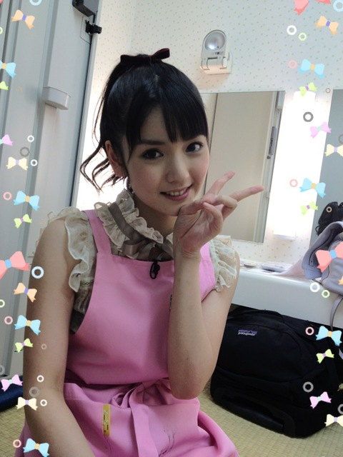 Morning Musume's Michishige Sayumi shows of her new pink ...