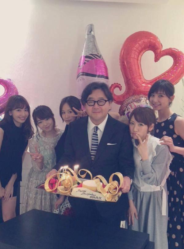 Early Akb48 Members Celebrate Akimoto Yasushi S 57th