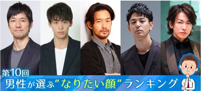 Oricon reveals '10th ideal faces chosen by men' ranking