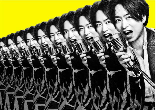 EXILE, Hey! Say! JUMP, Hoshino Gen, Kanjani8, KAT-TUN, Kis-My-Ft2, NEWS, Sexy Zone, SixTONES, Snow Man, V6